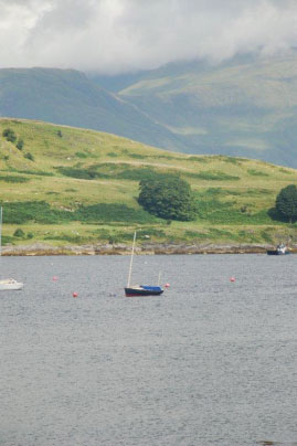 Corriemhor safely on her mooring