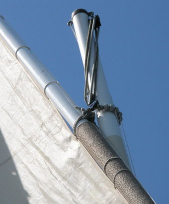 Mast sail romilly